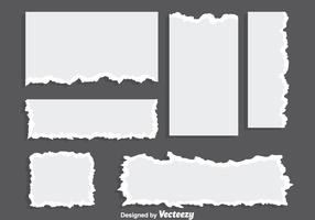 Blank Ripped Paper Vectors