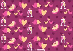 Purple Love and Wedding Vector Pattern