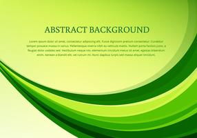Vector green wave background