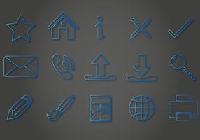 Blue Line Icon Vectors