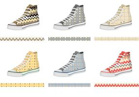 Mens Keds with Pattern Vectors