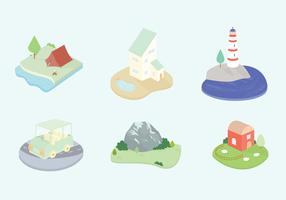 Landscape Vector Icons