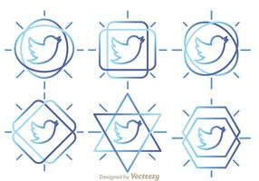 Twitter Bird Outline Vectors