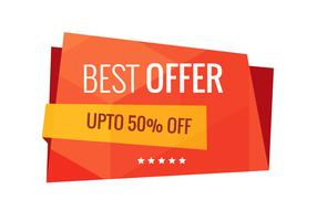 Best offer sale banner vector