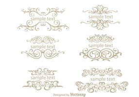 Text Ornamanet Fancy Lines Vectors