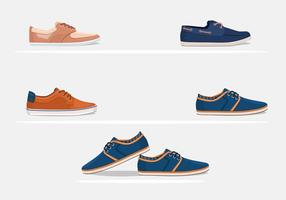 Mens Hipster Shoes Vectors