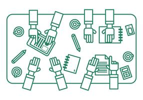 Vector Illustration of Teamwork