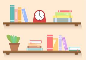 Free Bookshelf Vector