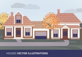 Houses Vector Illustration