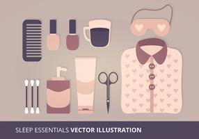 Sleep Essentials Vector Illustration