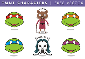 TMNT Characters Free Vector