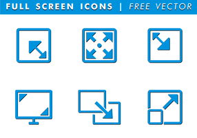 Full Screen Icons Free Vector