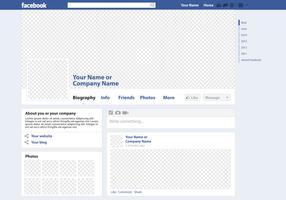 Facebook Page Vector Mockup