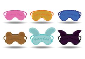 Sleep mask vectors