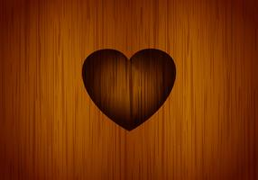 Heart carved tree vector background
