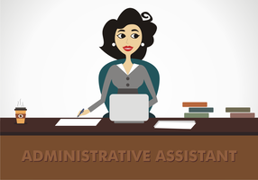 Administrative Assistant Free Vector