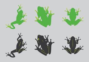 Free Green Tree Frog Vector Illustration