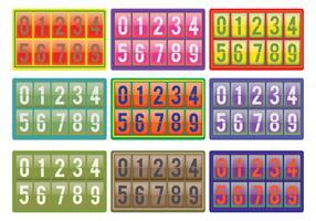 Number Counter Vectors