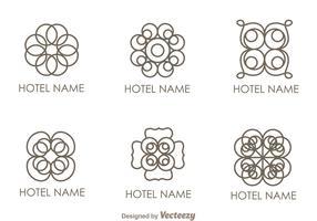 Floral Ornament Hotel Logo Vectors