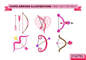 Cupid Arrows Illustrations Free Vector Pack