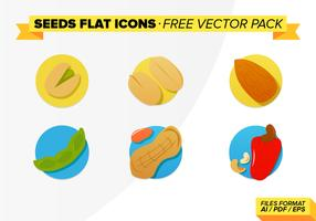 Seeds Flat Icons Free Vector Pack