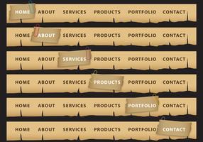 Burned Button Header Vectors