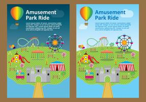 Amusement Park Flyer Vectors