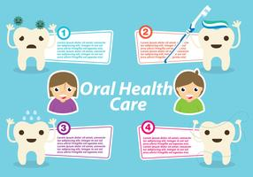 Oral Health Template Vector
