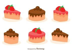 Stawberry And Choco Cake Slice
