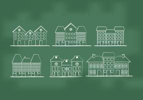 Town Homes Vectors