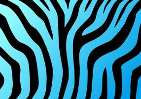 Neon Blue Zebra Print Vector Background