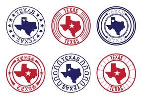 Texas Map Badge Vectors