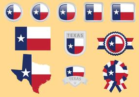 Texas Flag Vectors