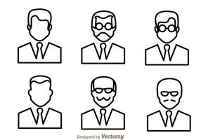 Man Outline Icons
