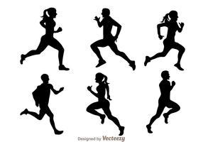 Running Silhouette Vectors