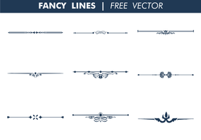 Decorative Fancy Lines Free Vector