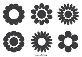 Simple Flower Shape Set