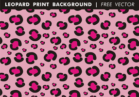 Girly Leopard Print Background Free Vector