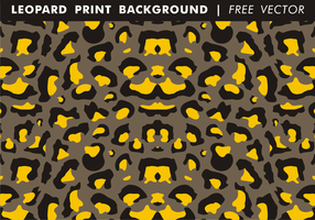Leopard Print Background Free Vector