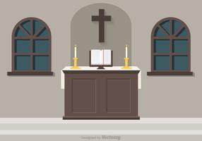 Free Church Altar Vector Illustration