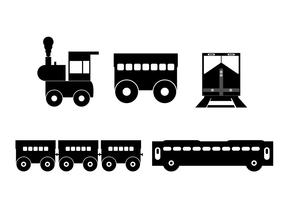Vector train silhouette