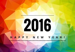 Colorful happy new year 2016