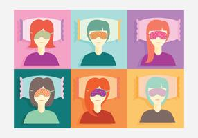 Beauty Sleep Mask Vector