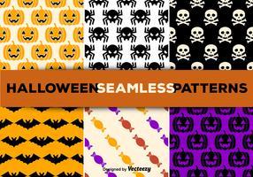 Halloween seamless patterns
