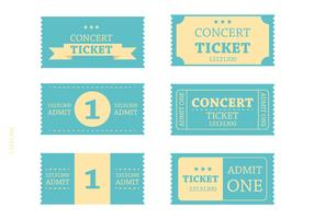 Retro Blue Ticket Vectors