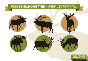 Moose Silhouettes Free Vector Pack