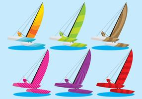 Colorful Catamaran Vectors