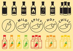 Sauce Bottles Icons