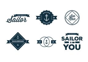 Old Nautica Typography Vectors