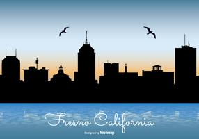 Fresno California Skyline Illustration